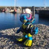 Scuba Joe and a Harbour of Boats in the Azores