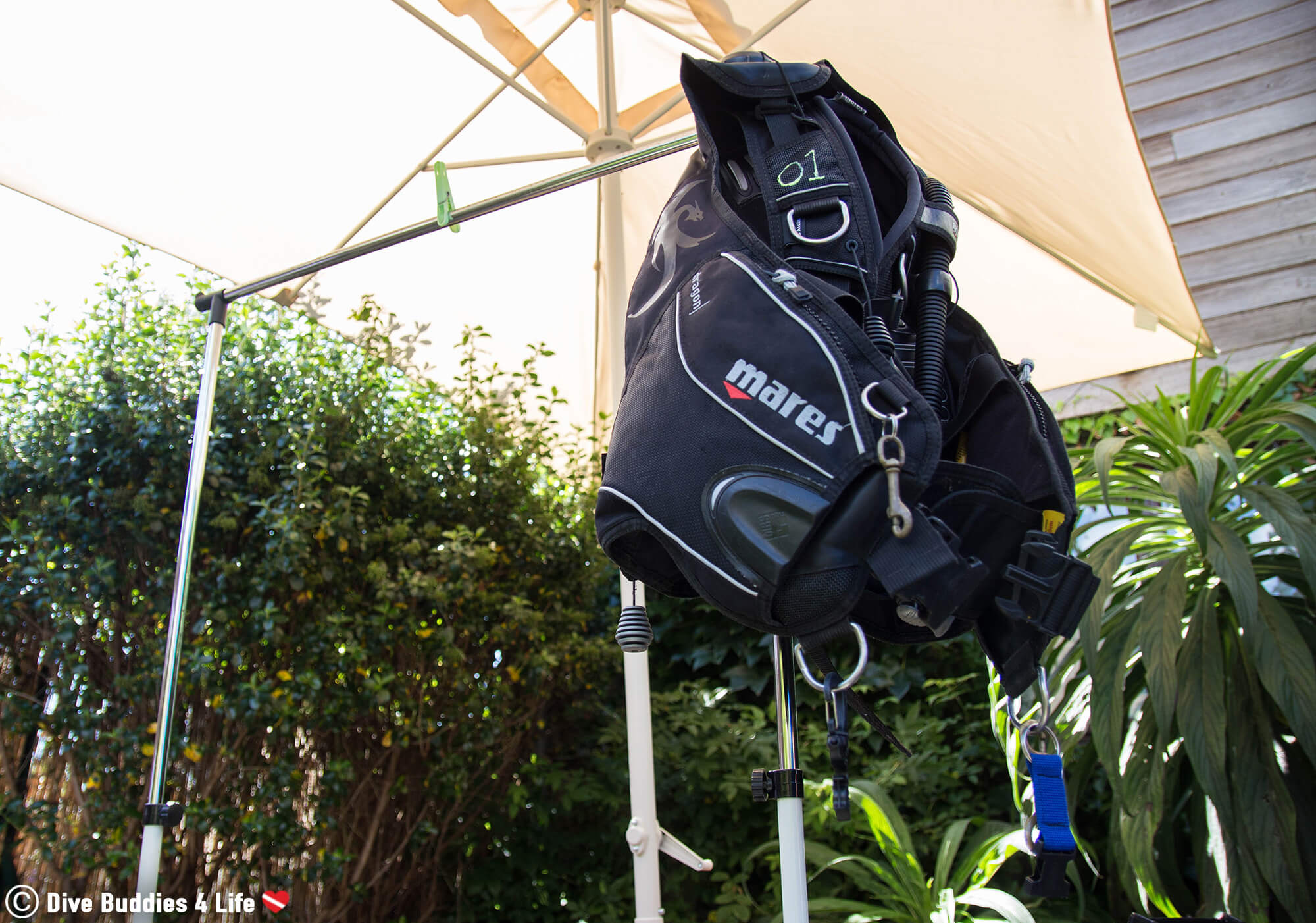 A BCD Hanging Out To Dry Away From The Sun In Brittany, France, Europe