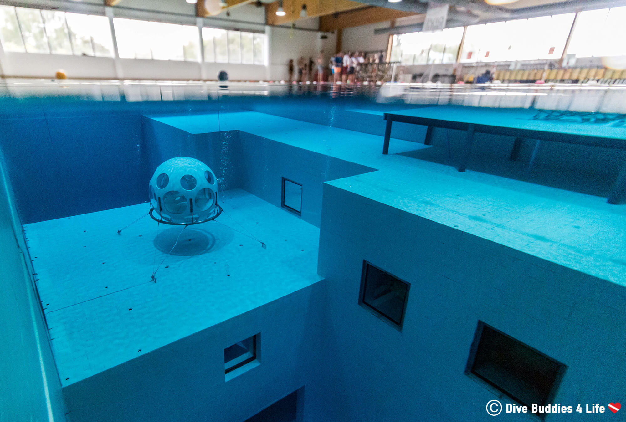 A New Group Of Divers Getting Ready To Dive The Nemo 33 Second Deepest Indoor Pool In The World, Belgium, Europe