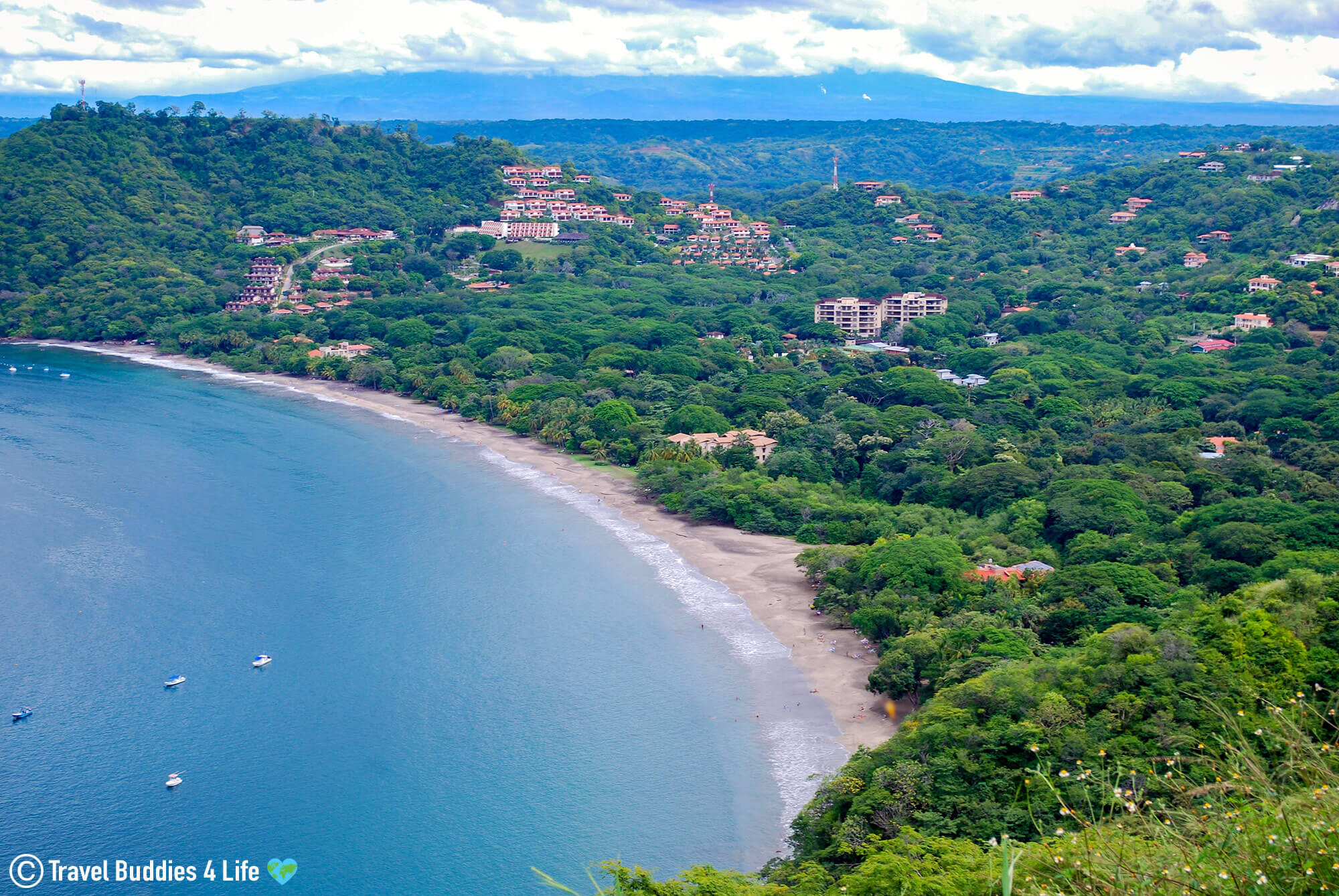 A Panoramic Ocean Front View Of Playa Hermosa, Guanacaste, Costa Rica