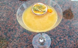 A Passion Fruit Martini On Santorini Island, Greece