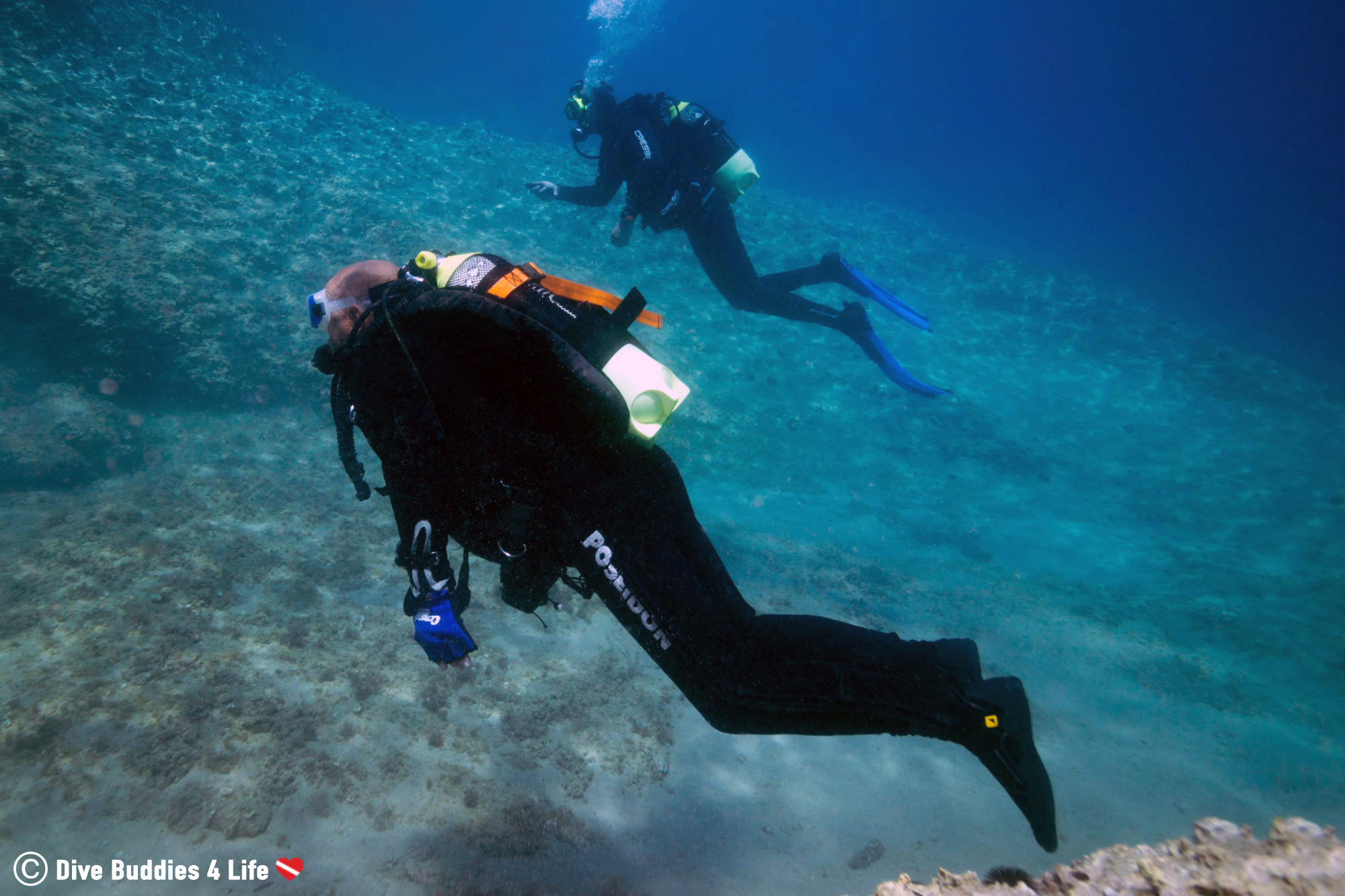 A Physically Challenged Man Scuba Diving In Budva, Montenegro, The Balkans