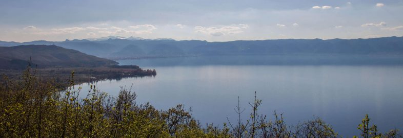 A Scenic View Of Lake Ohrid In Macedonia
