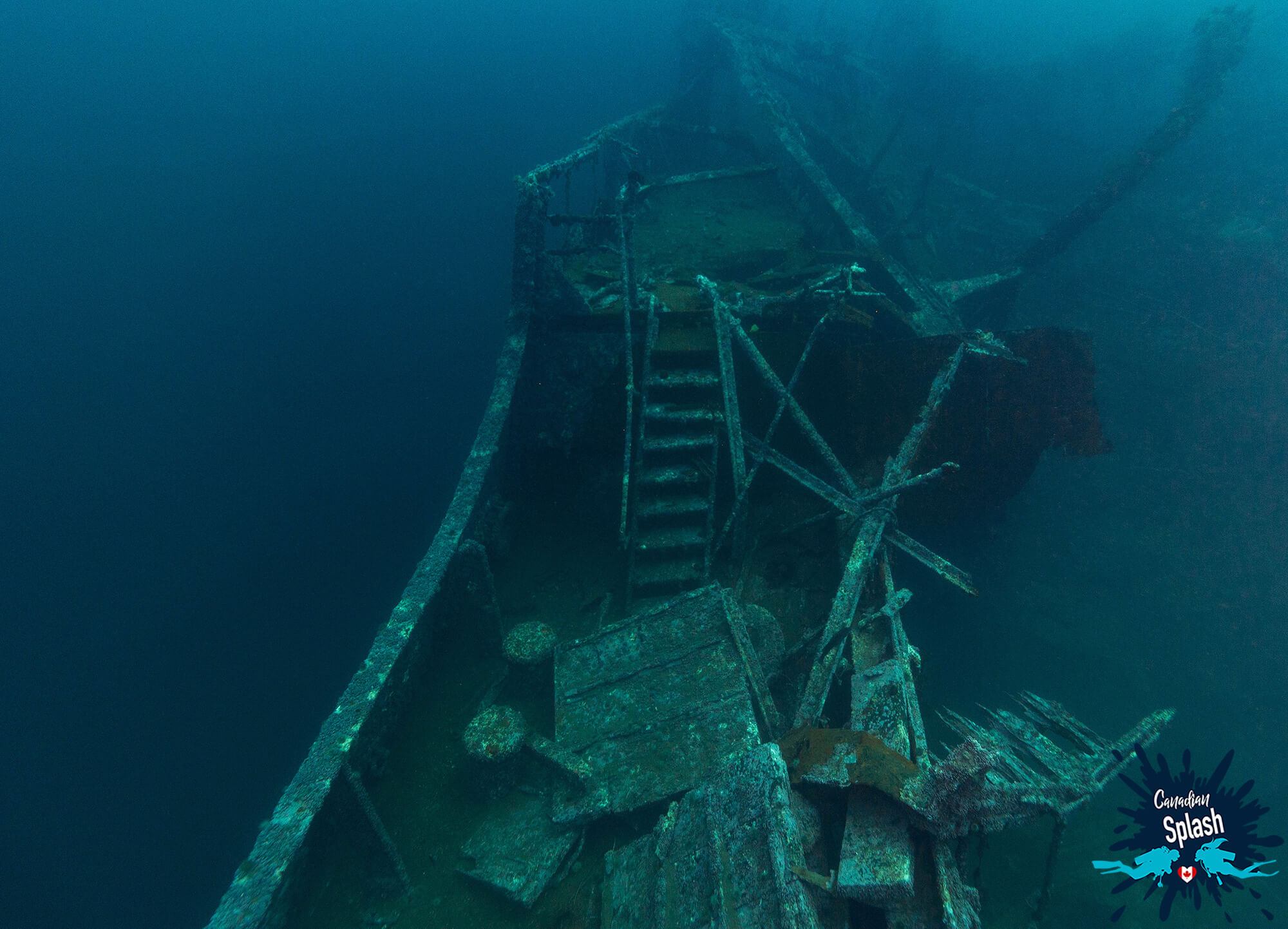 A Shipwreck At The Bottom Of The North Atlantic Ocean, Bell Island, Newfoundland, Scuba Diving Canada
