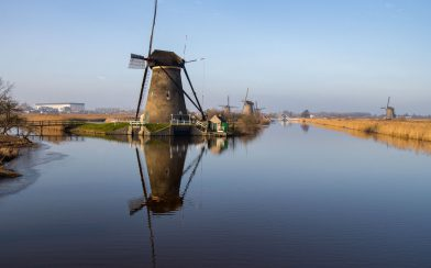 A Single Windmill In The Netherlands