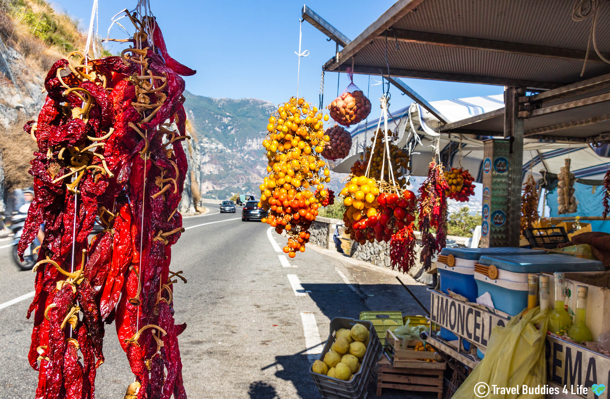 A Small Fruit And Vegetable Stand Around The Naples, Italy Region Of Europe