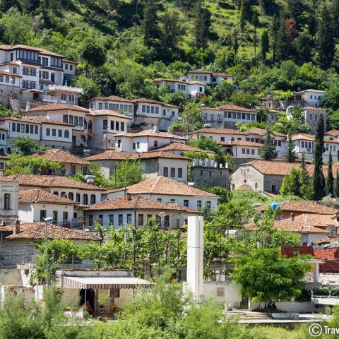 A Small Mountain Village In The European Balkan Country Of Albania