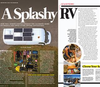 A Splashy Custom RV Publication For RV Magazine