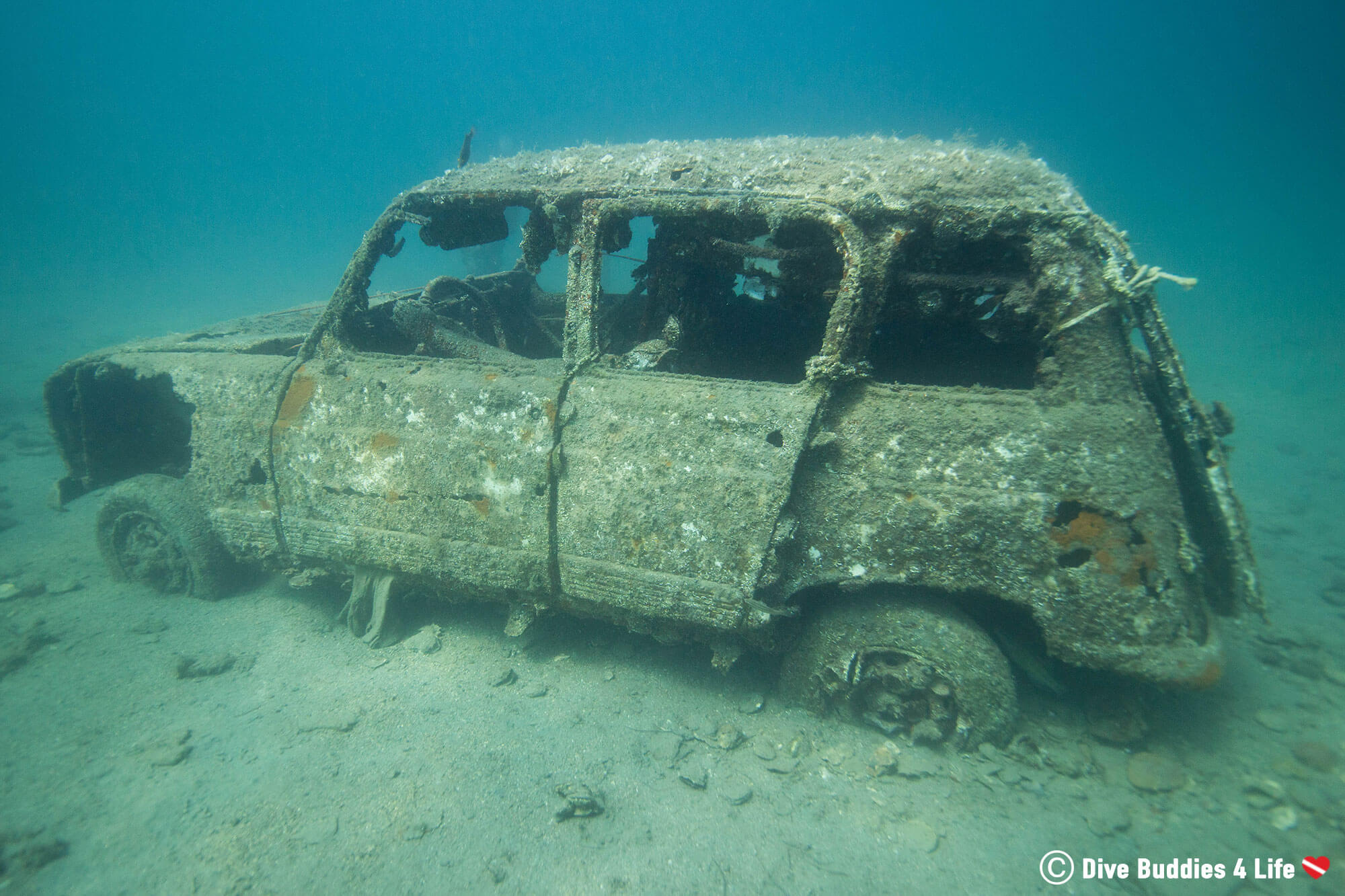 A Vehicle Underwater In Piran Slovenia