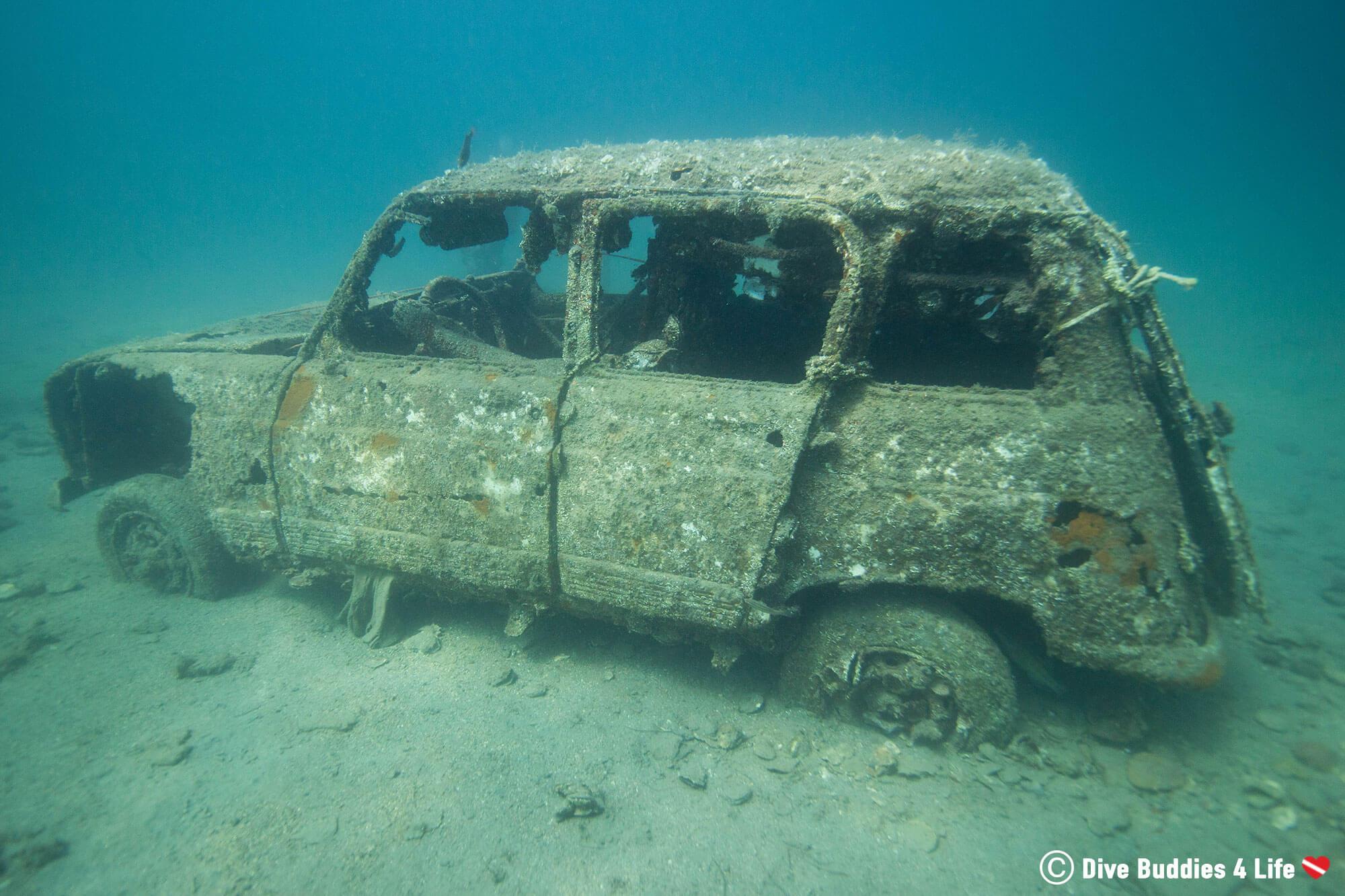 A Vehicle Underwater In Piran Slovenia
