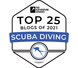 Adventure Junkies Top 25 Scuba Diving Blogs Of 2021 Badge