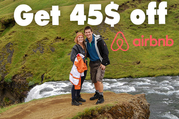 Sign up for airbnb and get a discount with our code.
