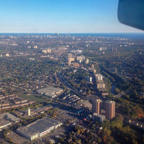 Airplane View Toronto