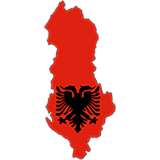 Albania Country Flag And Shape