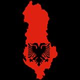 Albania Country Flag And Shape