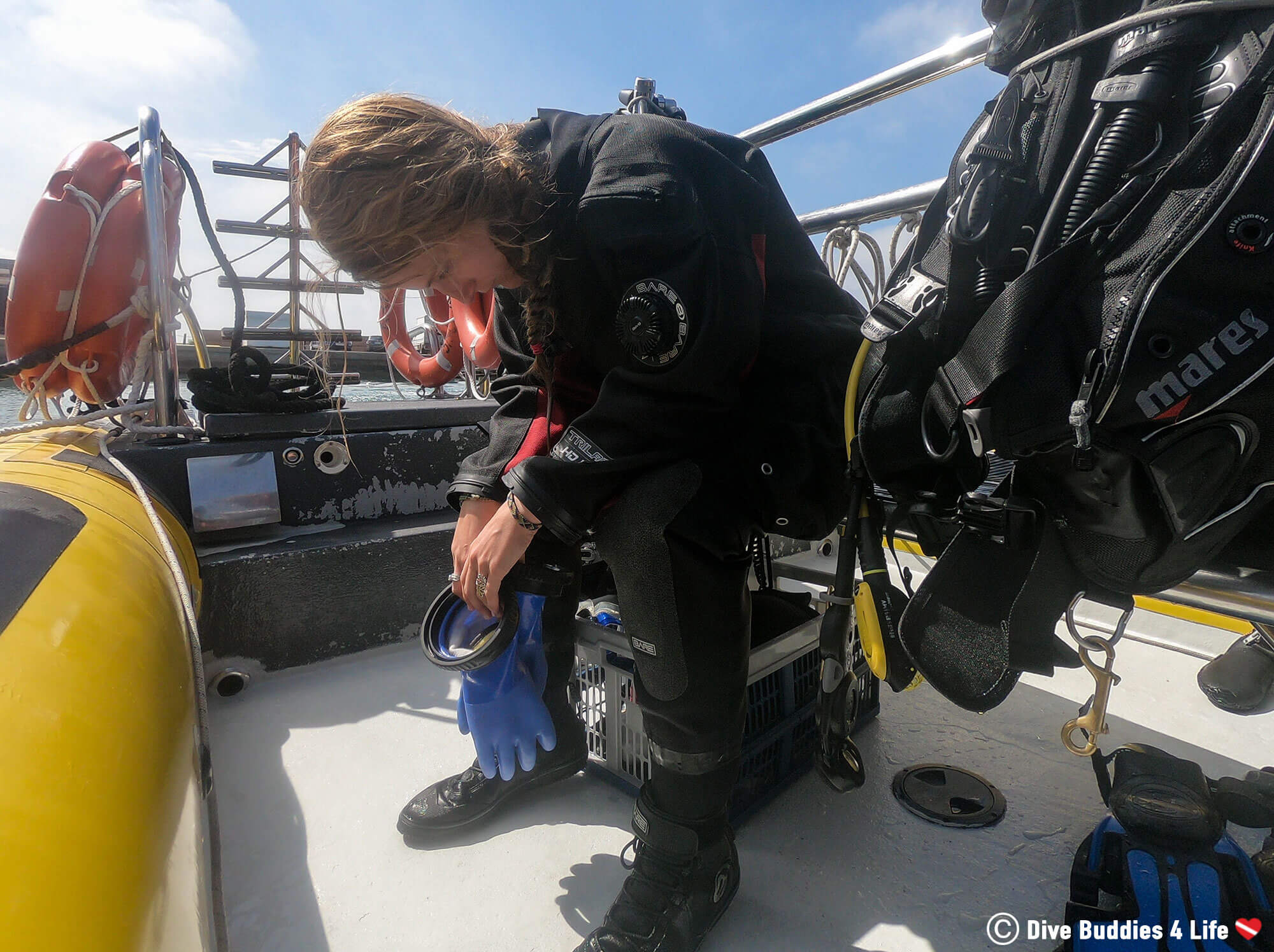 Ali Dealing With Seasickness While Going For A Dive