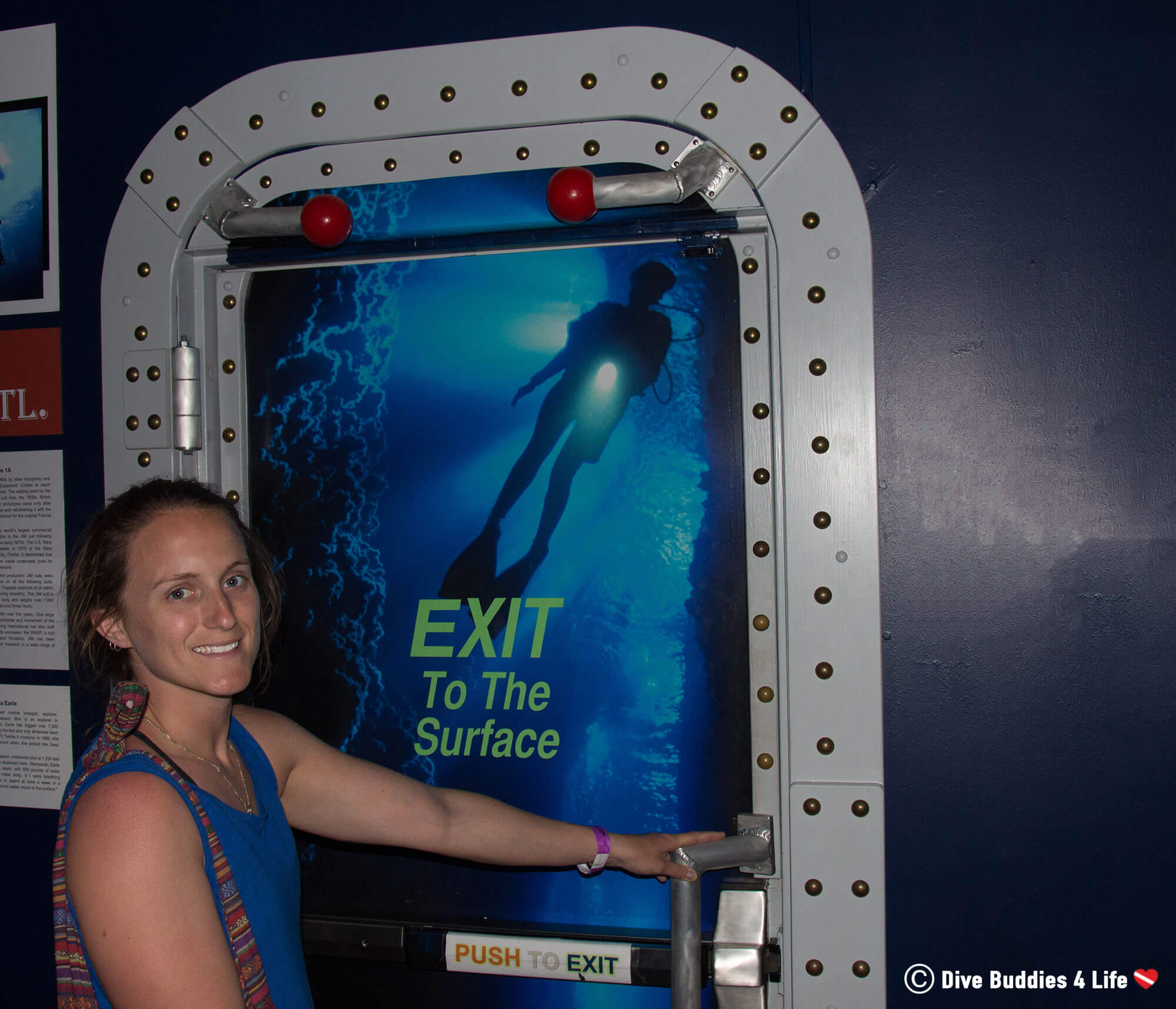 Ali Exiting The History Of Diving Museum In The Florida Keys