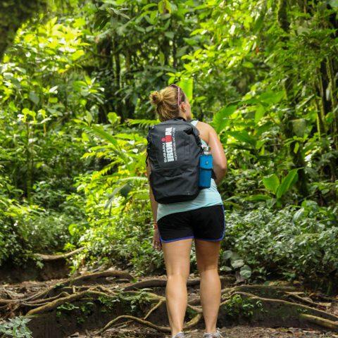 Ali Hiking Up the Chato Volcano in La Fortuna, Costa Rica