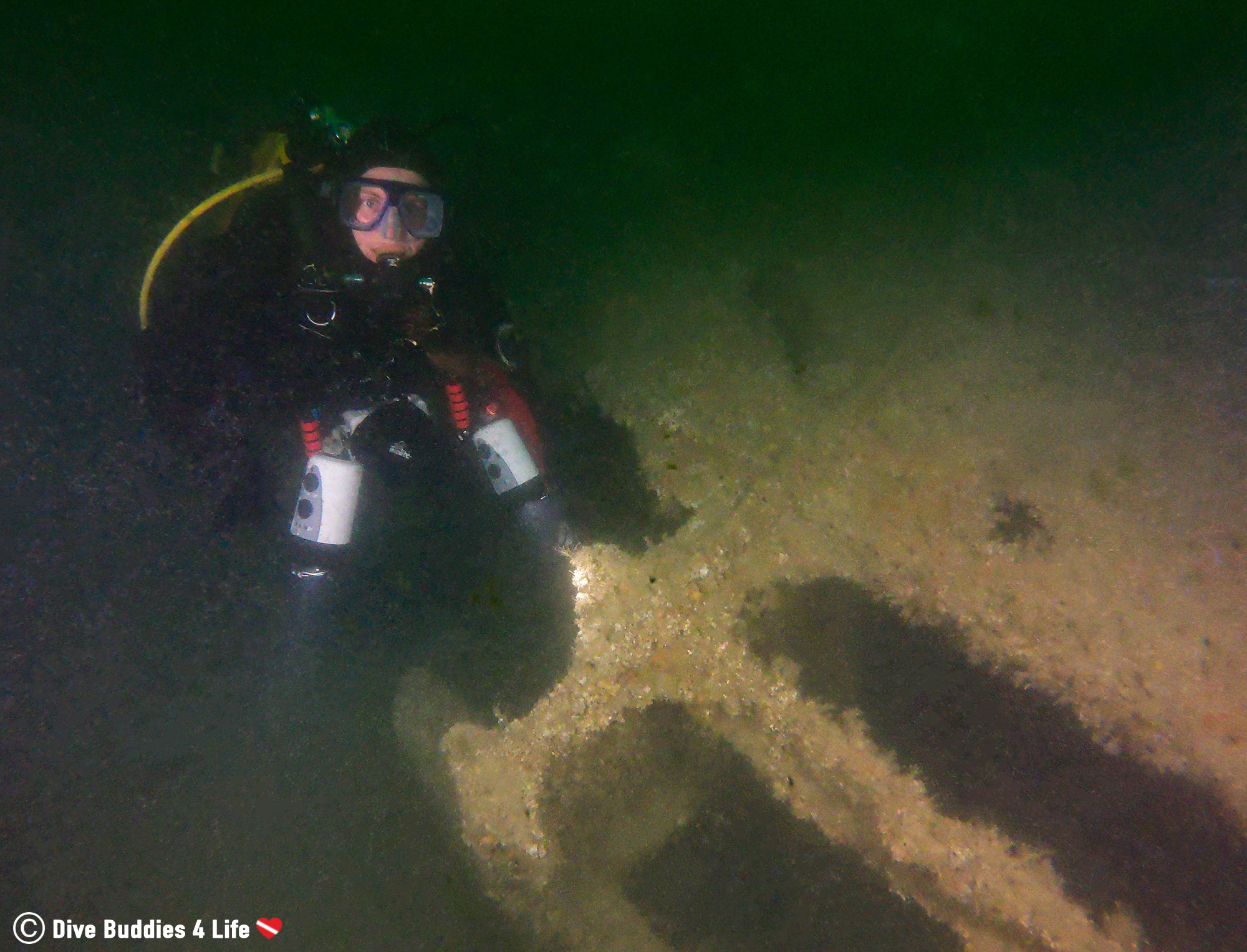 Ali Scuba Diving With A D Day Wreck In Normandy, France