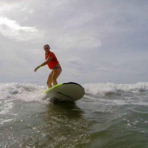 Ali Surfing Straight On