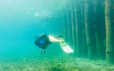 Ali Swimming Beside The Museum On Lake Ohrid