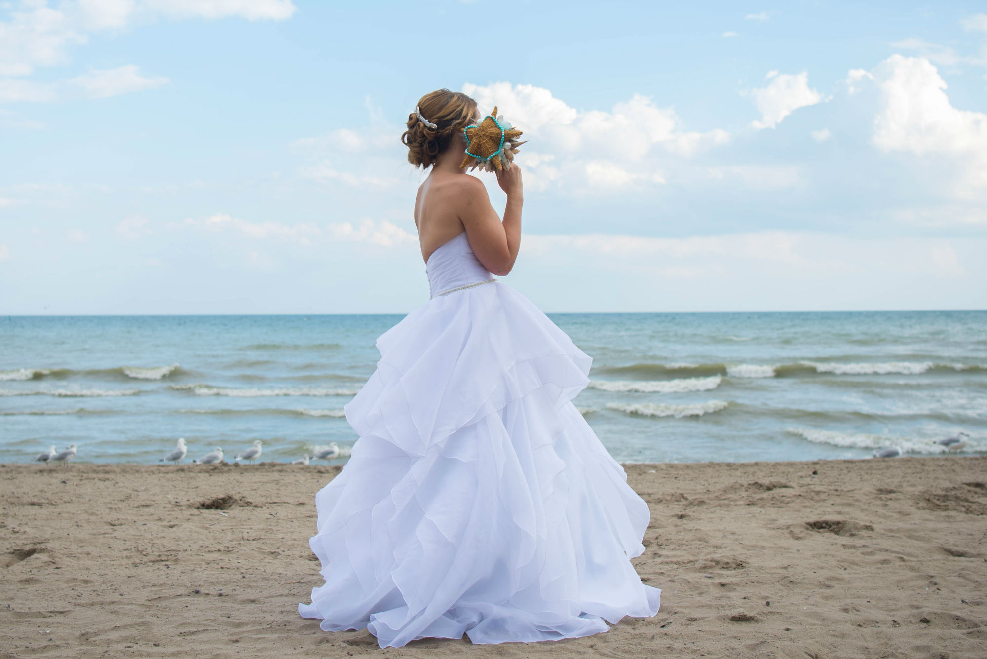 Ali And Her Sea Shell Bouquet