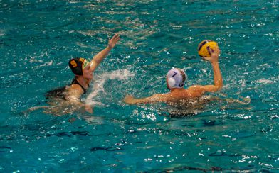 Ali And Joey Playing Water polo