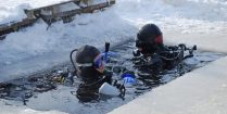 Ali And Joey Trying Scuba Diving Under The Ice In Ontario, Canada