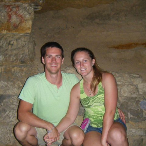 Ali and Joey in Catacombs
