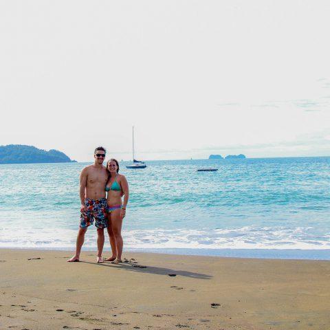 Ali and Joey on the Playa Flamingo Beach, Costa Rica