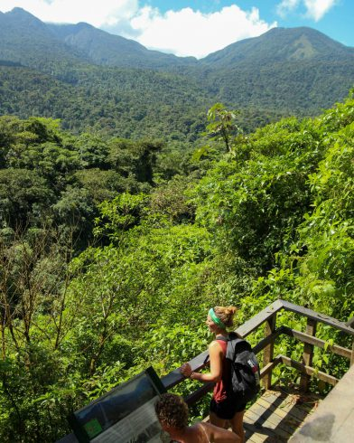 Ali and Mom in the Lookout at Tenorio Volcano National Park, Costa Rica