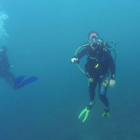 Ali Making her Scuba Diving Safety Stop