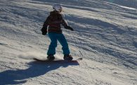 Ali On Her Snowboard In Flaine