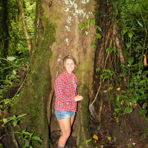 Ali with a Beastly Tree in Monteverde, Costa Rica