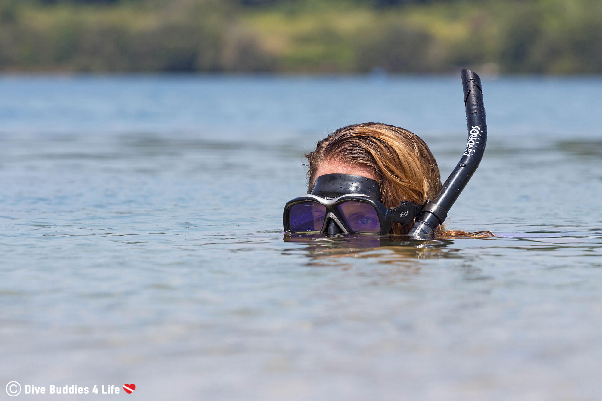 Ali With A Snorkel Getting Ready To Find Some Manatee's Underwater In Florida, USA