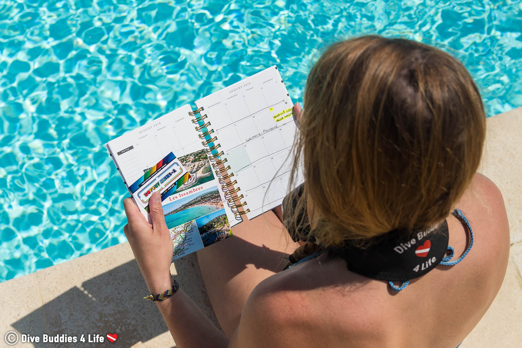 Ali With Her Agenda Planning Out The Best Time Of Year To Dive