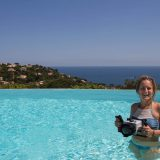 Ali With Her Underwater Camera In A Pool in France