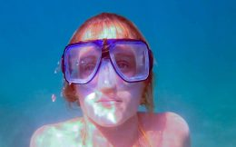 Ali's Snorkeling Face Underwater