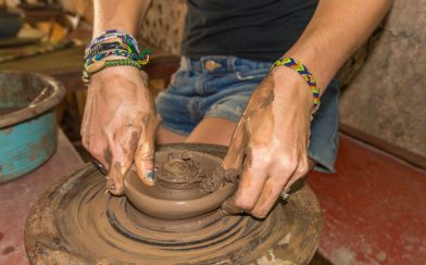 Ali's Hands Moulding the Clay