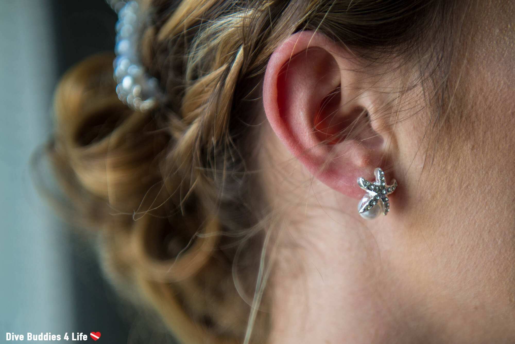 Ali's Sea Star And Pearl Earrings For Her Ocean Themed Wedding