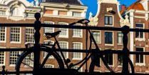 Amsterdam Bike Silhouette, Visiting the Netherlands Country, Europe