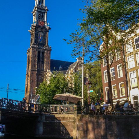 Amsterdam Church from the Water
