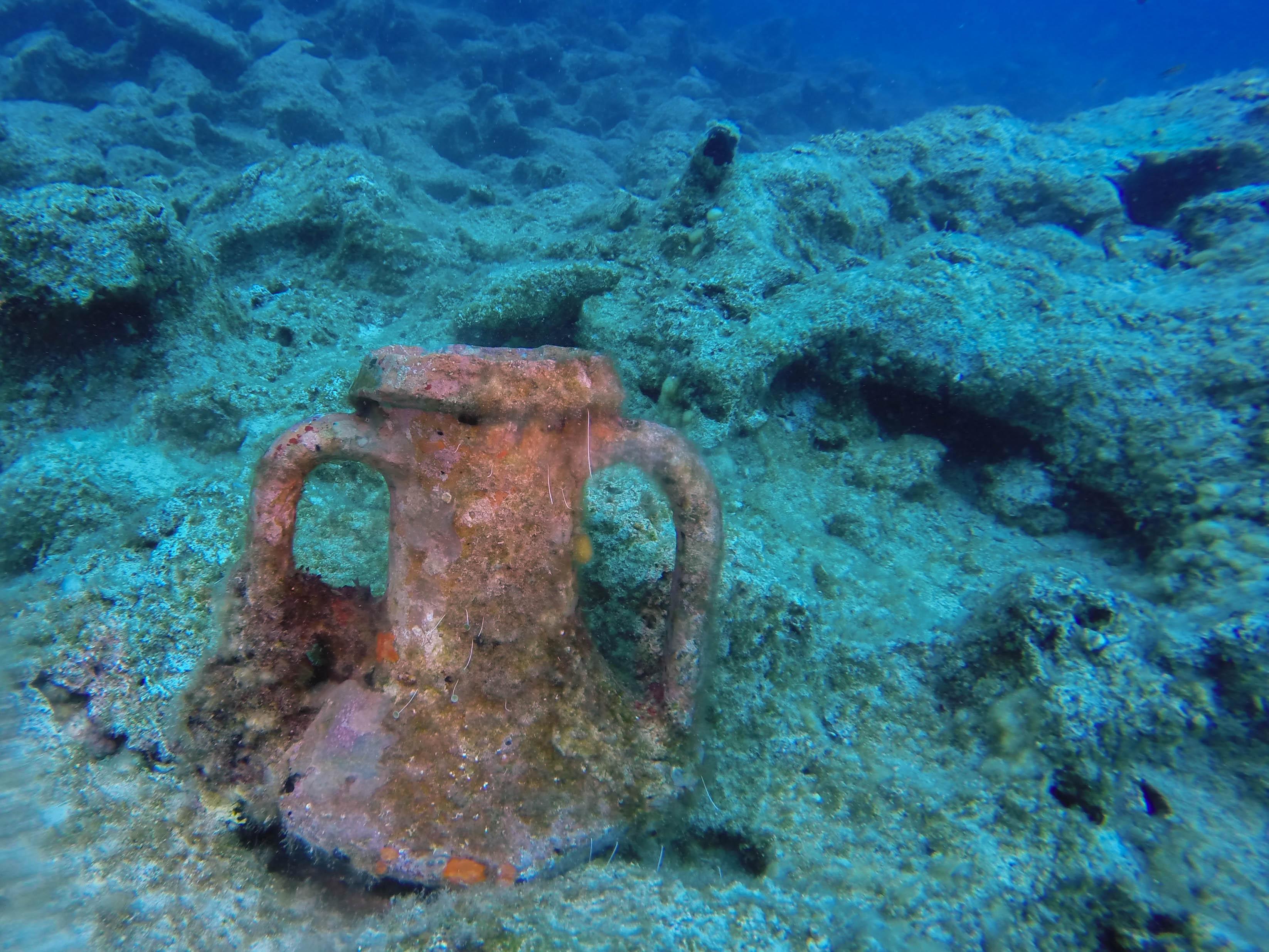 Ancient Underwater Pot in Croatia