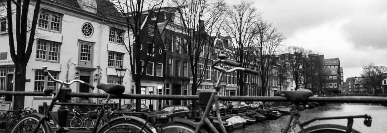 Amsterdam Black and White Bikes
