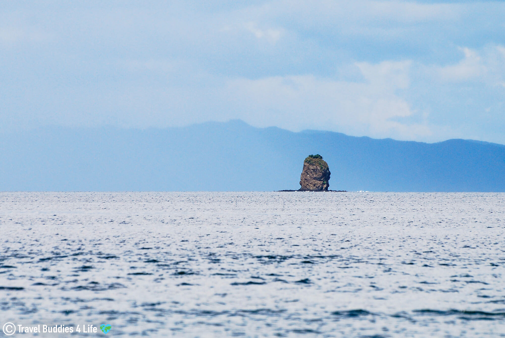 Bat Island Rock Formation At A Distance In Costa Rica, Central America