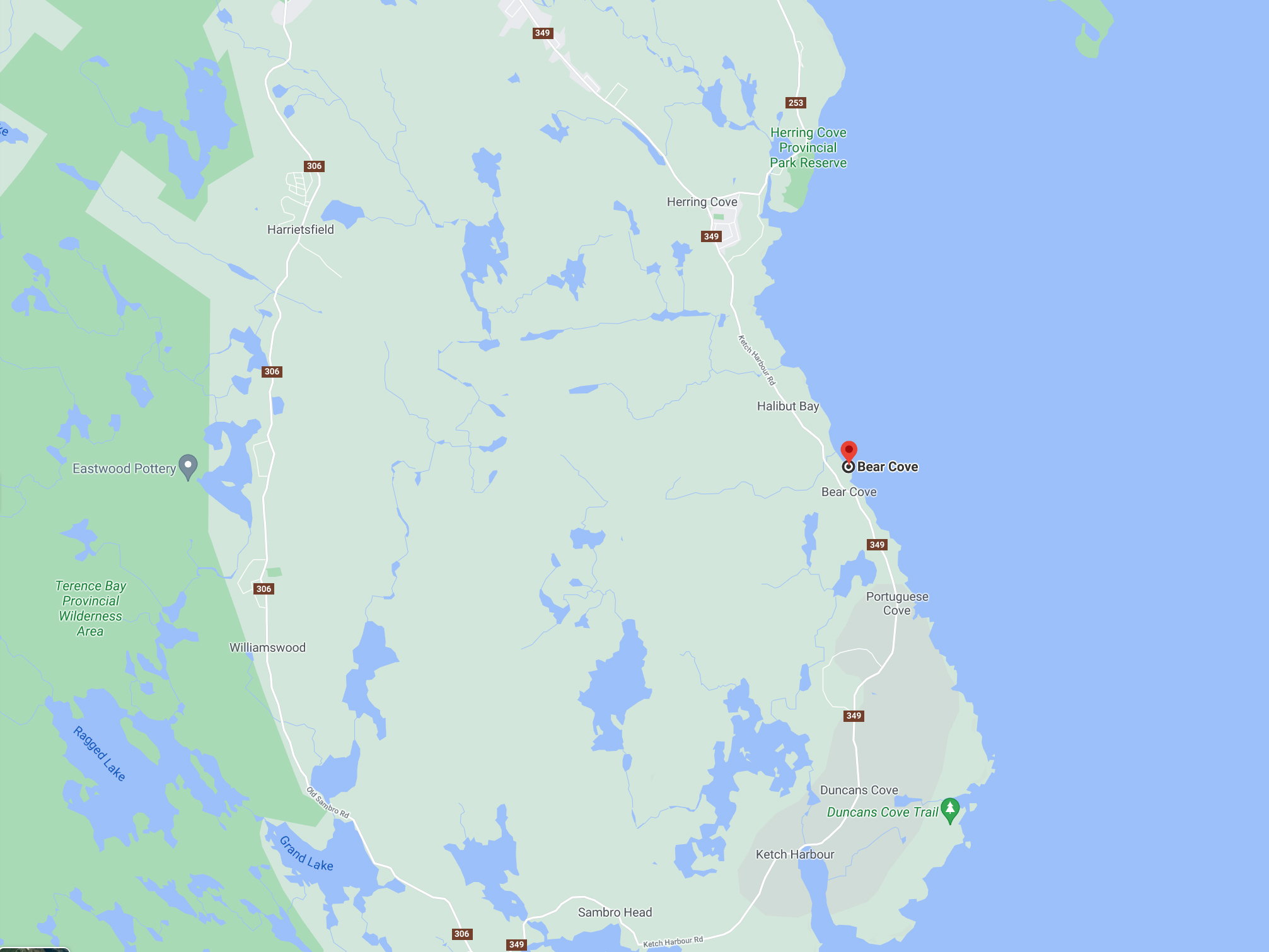Bear Cove Scuba Diving Site On Terrence Bay In The Halifax Regional Municipality, Nova Scotia, Canada
