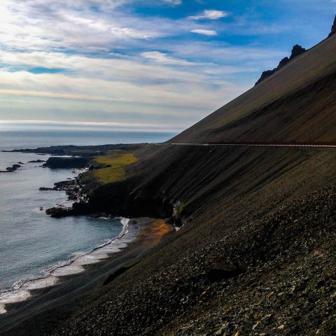 Costal Road in Iceland
