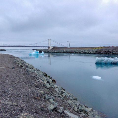 Bridge Opening the Glacier Lagoon to the Sea