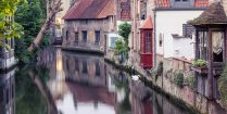 The Belgium city of Bruges on the Water, Europe