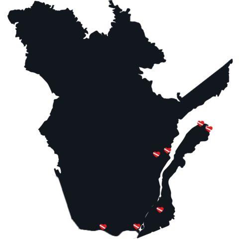 Canadian Splash Quebec Dive Sites Across The Provinces